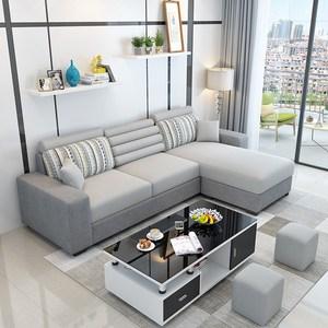 Đồ nội thất Hiện Đại Đơn Giản Đa Chức Năng Vải Sofa Giường Phòng Khách Châu Âu Sofa Vải Kết Hợp