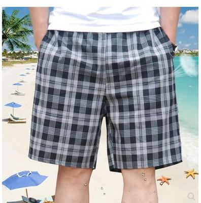 Một Luo quần của nam giới quần short pyjama mùa hè ba quần cotton loose boxer tóm tắt kích thước lớn quần nhà quần lớn