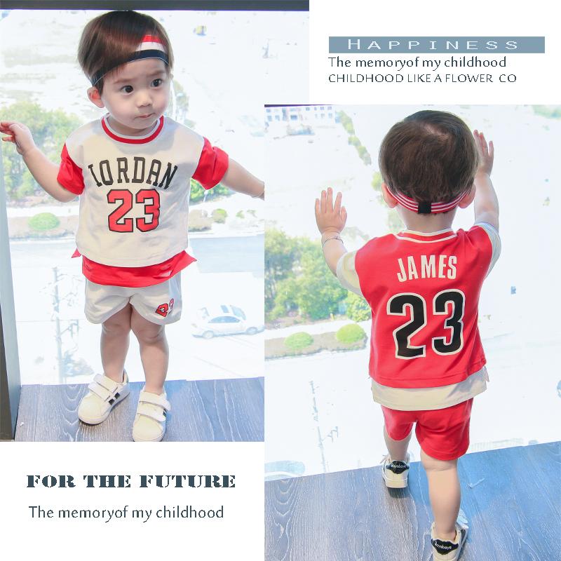 宝宝帅气儿童运动套装夏装男1一岁3婴儿0衣服2小童球服童装潮男童