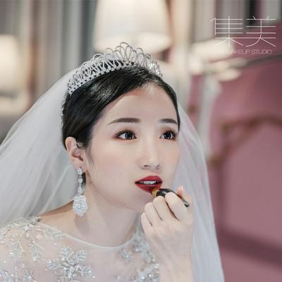 韩式大气简约新娘结婚王冠婚纱礼服晚宴会年会生日礼物皇冠头饰品