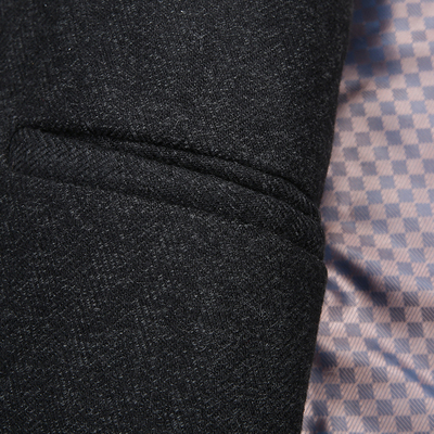 Mùa thu và mùa đông trung niên của nam giới áo len nam kích thước lớn dài áo len trung niên dày len áo gió Áo len