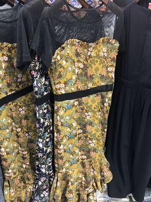 Katie kdz18A8819 của phụ nữ quần áo 2018 mùa hè mới thời trang Hàn Quốc là mỏng trong dài ăn mặc triều Châu Âu