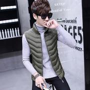 Hồng Kông nam 2017 mùa thu và mùa đông mới phần mỏng xuống cotton vest Hàn Quốc thanh niên đứng cổ áo vest vest jacket triều