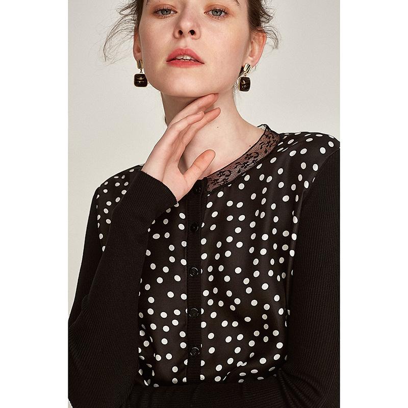[MLEZK015] hoa nhài ya new polka dot in lụa smash đan áo nịt