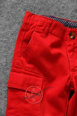 025D 0606工装风 休闲帅气的口袋贴布小直筒中裤 童装