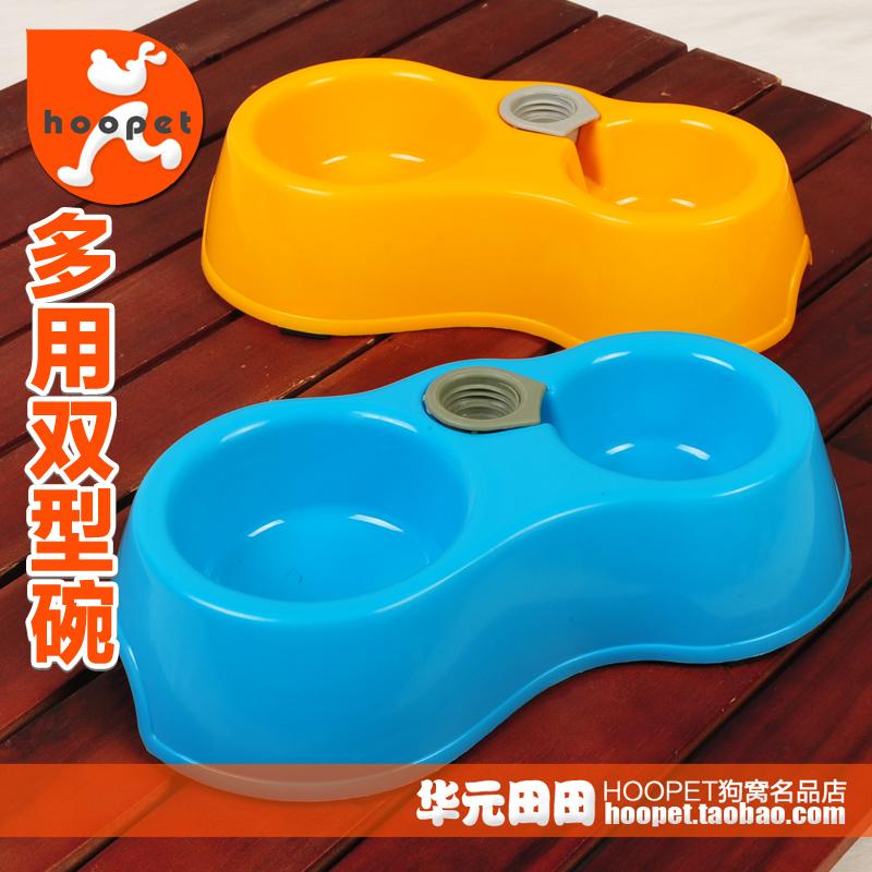 狗碗狗盆双碗猫碗宠物碗自动饮水猫盆狗狗用品泰迪猫食盆小狗食盆