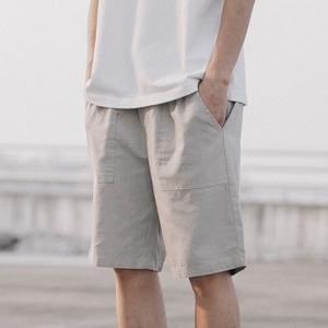 GBOY mùa hè Nhật Bản Harajuku phong cách linen quần short nam thanh niên màu rắn đơn giản phần mỏng rửa chic loose quần