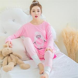 Phụ nữ mang thai quần áo nhà mùa thu quần áo đồ ngủ bộ mùa xuân và mùa thu mùa đông mang thai sau sinh lỏng cho con bú điều dưỡng quần áo cotton