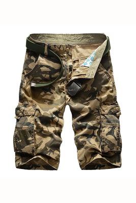 Của nam giới dụng cụ ngụy trang quần short mùa hè cắt quần đa túi thể thao lỏng lẻo cotton ống túm giản dị phần mỏng quần quân sự Quần làm việc