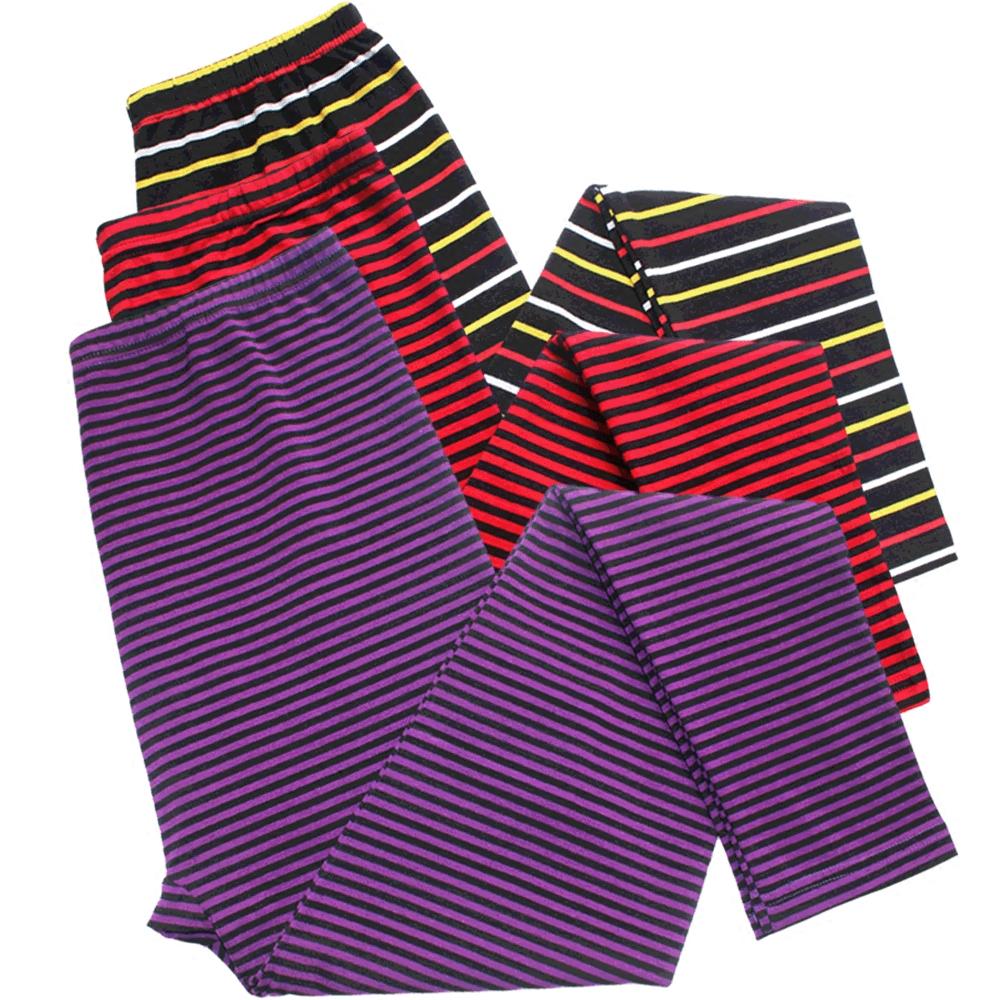 Của phụ nữ sọc dài quần của phụ nữ bông mảnh duy nhất eo cao Lycra cotton ấm trung niên mô hình phần mỏng đáy lớn kích thước quần
