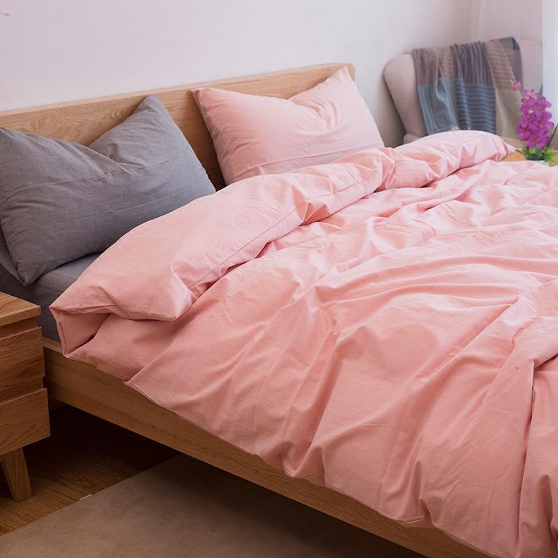 水洗棉四件套全棉纯棉被套件混搭无印天竺棉简约床笠床单床上用品
