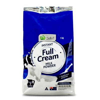 澳洲代购Woolworths全脂高钙奶粉劵后19.9元包邮7月24日过期!