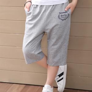 Trai quần short quần âu phần mỏng cotton trẻ em lỏng lẻo của quần áo trẻ em lớn mùa hè cắt quần thể thao của trẻ em quần