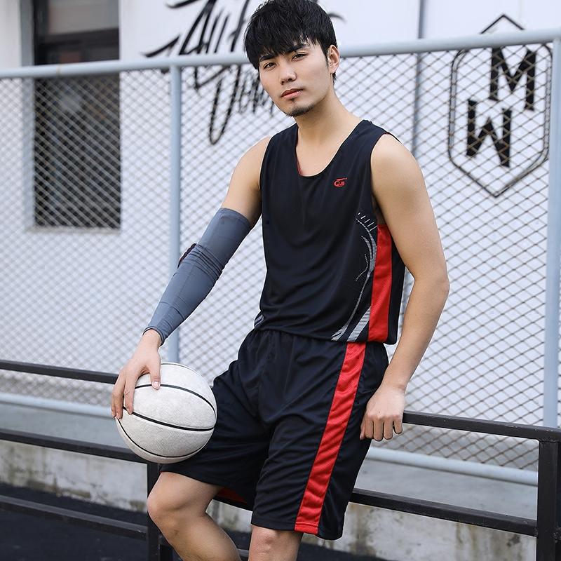 Mùa hè đồng phục bóng rổ phù hợp với thanh niên không tay thể thao phù hợp với ánh sáng thoáng khí đôi phải đối mặt với thể thao vest quần short