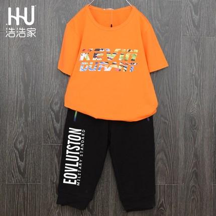 韩版童装2018夏季新款男童短袖圆领T恤中大童上衣体恤半袖打底衫