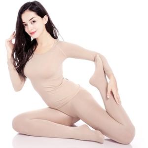 Mùa xuân và mùa hè màu khiêu vũ đáy áo dài tay vô hình vớ trang phục siêu mỏng trong suốt thịt màu quần áo khiêu vũ phụ nữ