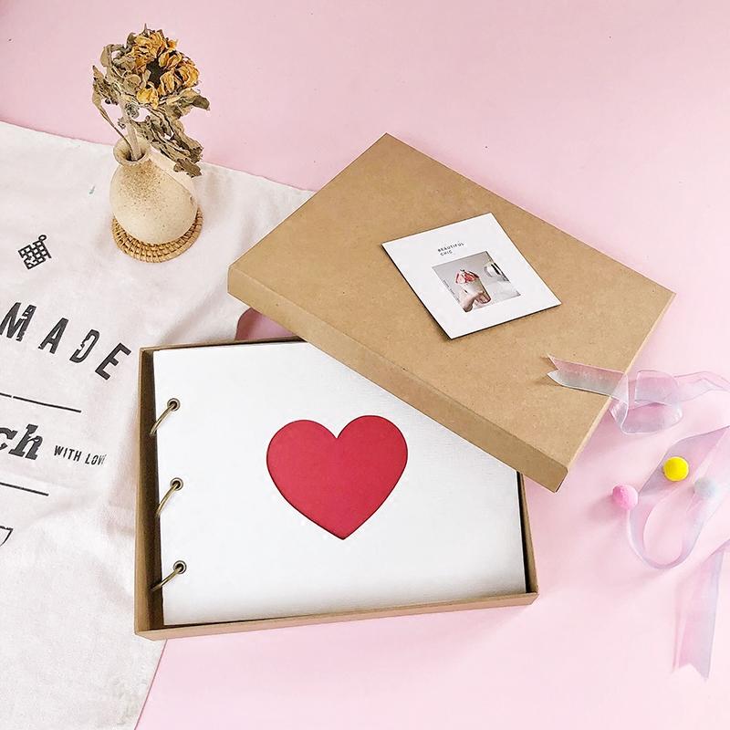 DIY手工情侣爱情纪念册,制作一份礼物