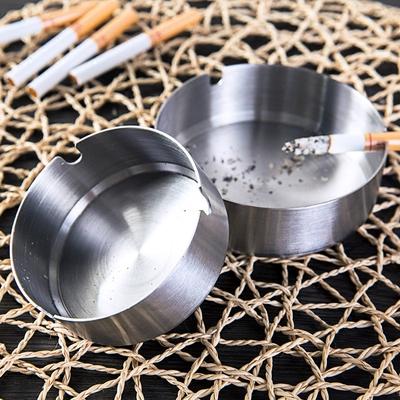 居家家不锈钢客厅茶几个性圆形烟灰缸创意家用办公室欧式网吧烟缸