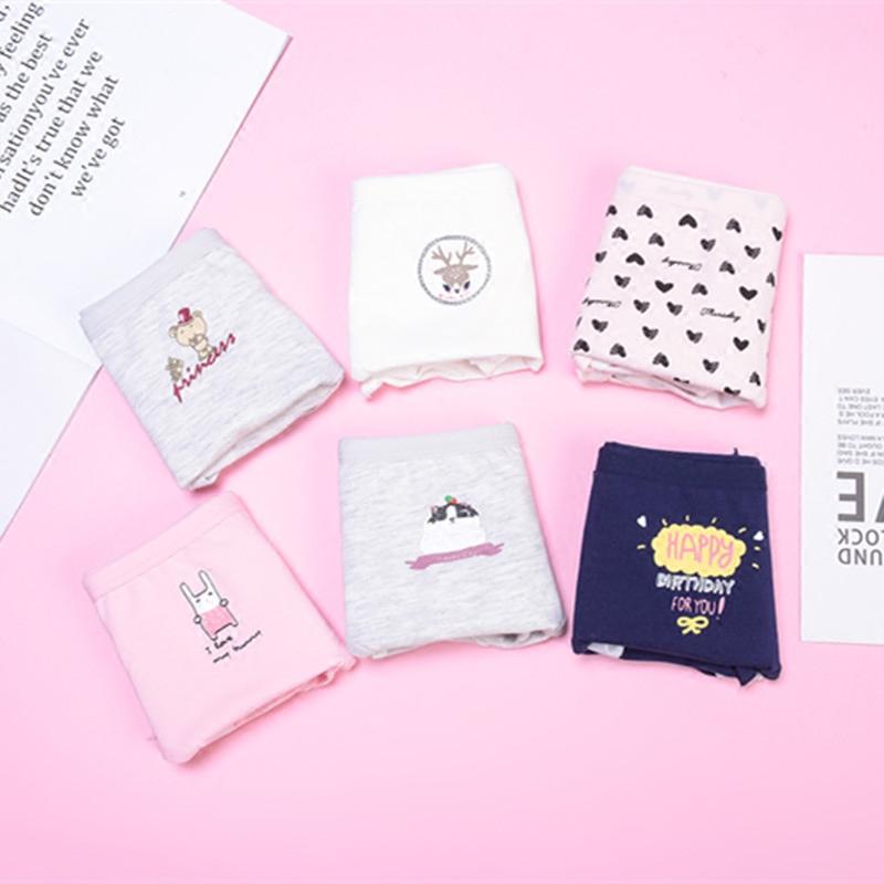 5 nữ cotton XL sinh lý đồ lót cô gái dễ thương eo chu kỳ kinh nguyệt rò rỉ-proof dì đồ lót
