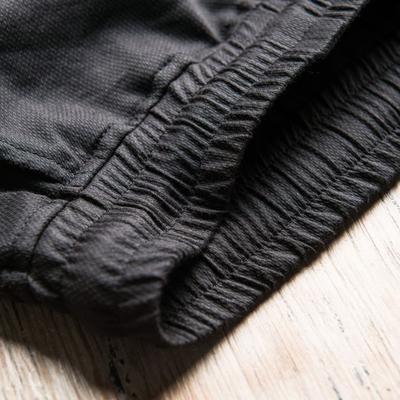 ◆ giải thích ◆ ban đầu người đàn ông thương hiệu chấm đen bông đàn hồi thắt lưng màu đen kết cấu bông scimitar chân quần âu
