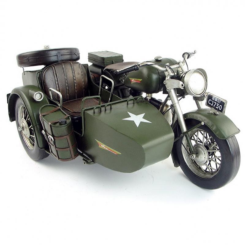 长江750侉子三轮摩托车模型,商务复古怀旧礼物