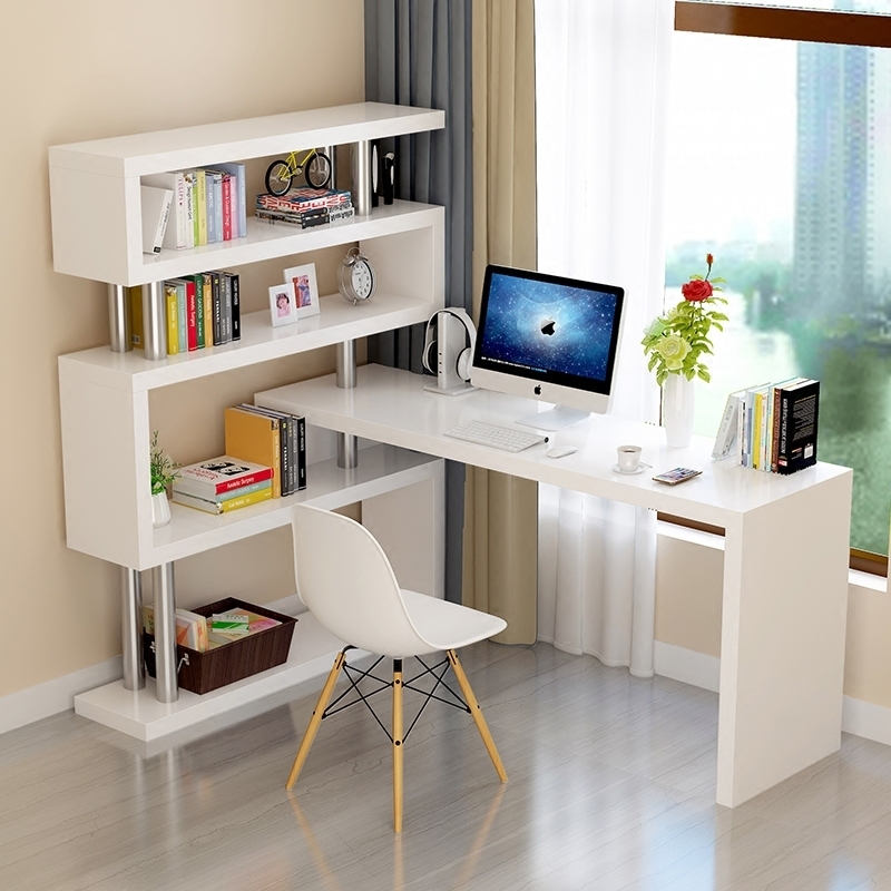 Вращение компьютерный стол угол один домой стол сын запись тайвань сочетание книжная полка книжный шкаф простой легко письменный стол