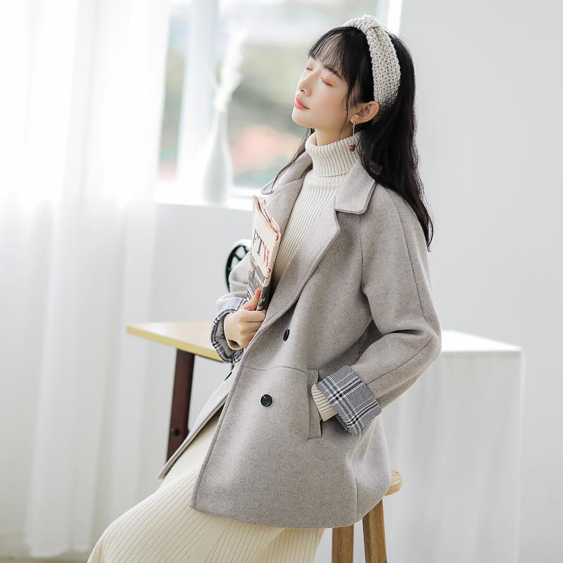 【6415特价大量现货】呢子外套女短款上衣名媛小香风斗篷大衣