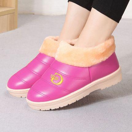 冬季保暖棉拖鞋<font color='red'><b>女</b></font>加绒保暖<font color='red'><b>包</b></font>跟男鞋