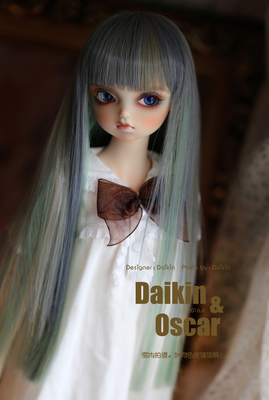 taobao agent DO spot bjd doll hair sd10 13 female ddmdd wig linen wasteland blue and green straight hair 3 points 4 points giant baby