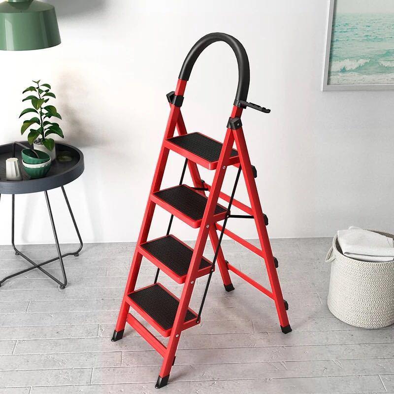 家用梯子折叠梯加厚碳钢人字梯移动楼梯伸缩梯步梯多功能室内梯子