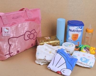 环保材质2017出行包包布包时尚外出手拎手提包女妈咪包母婴包产后