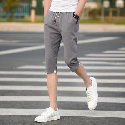 Cắt quần cậu bé 13 mùa hè mỏng phần 14 cậu bé lớn bông 15 quần short 16-17 tuổi học sinh trung học 7 điểm quần nam
