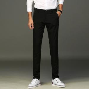 男士西裤秋季修身直筒商务休闲裤青年职业黑色西服正装长裤子CN01