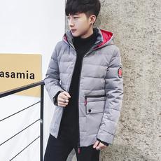 羽绒服男士连帽外套加厚男装青年潮流衣服2017冬季新款