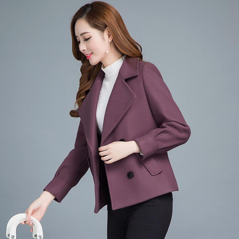 2017 mùa thu và mùa đông quần áo mới của Hàn Quốc phiên bản của tự trồng phần ngắn dày trung niên Mao Ni Mao len áo khoác Nizi len áo khoác nữ