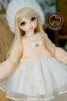 taobao agent 【Meow House】Warm Winter Hat White ~3 points, 4 points size, SD/BJD/DD/MSD baby clothes