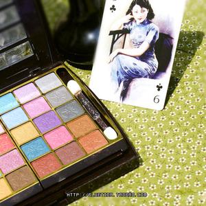 Mermaid trang điểm hộp hộp trang điểm thương hiệu Trung Quốc cũ cổ điển trang điểm set món ăn bóng mắt hộp 30 màu + 2 màu bột bánh