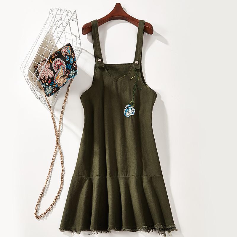 2018 mùa hè mới ngọt Một loại dây đeo màu rắn váy dây đeo váy nữ 7474