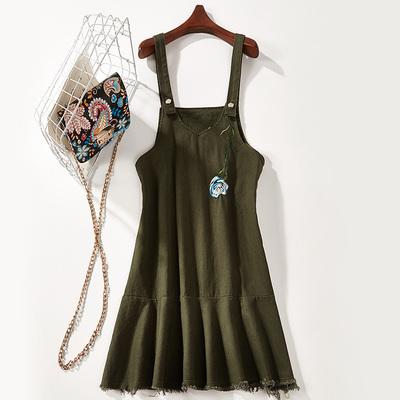 2018 mùa hè mới ngọt Một loại dây đeo màu rắn váy dây đeo váy nữ 7474 Sản phẩm HOT