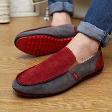 1943红色季新款韩版男士豆豆鞋套脚透气鞋男鞋子休闲鞋驾车鞋