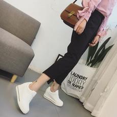 2017春季新款女鞋内增高小白鞋女真皮平底鞋as128-3