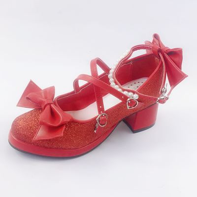 taobao agent Antaina classic small leather shoes lolita lolita mid-heel sweet girl shoes size custom 5006