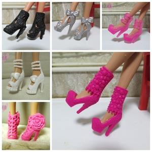 30 cm truy cập cao thay đổi búp bê barbie phụ kiện chính hãng phụ kiện giày cao gót giày thời trang khởi động ngắn dép