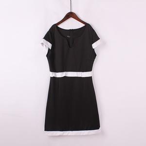 Lỏng kích thước lớn thời trang hit màu mỏng eo váy váy khí v- cổ đầm mùa hè mới đầm thủy triều