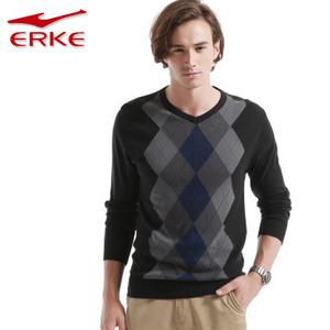 Hongxing Erke dài tay nam giới 4xl áo len nam thể thao vòng cổ áo thun kích thước lớn nam áo len áo len bông