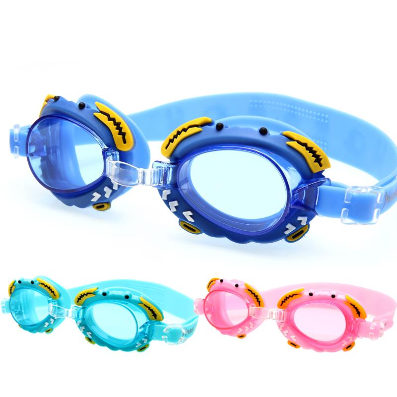 2017 trẻ em đích thực kính bơi không thấm nước chống sương mù cô gái kính trai kính bơi kính bơi bán buôn