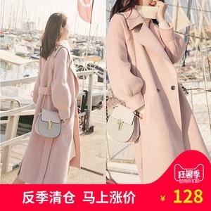 Chống mùa xúc tiến áo đèn lồng tay áo áo len phụ nữ eo phần dài dày ulzzang len quần áo tại chỗ