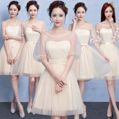2017 New Bridesmaid Dress Graduation Ceremony Evening Dress