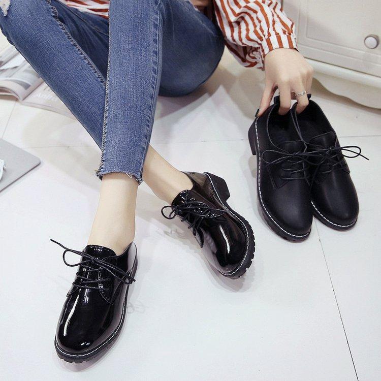 小皮鞋女学生韩版2018新款英伦学院风女鞋百搭时尚原宿中跟女单鞋