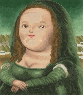 QS正品埃及长绒棉自配无针无印花套件 搞笑版蒙娜丽莎